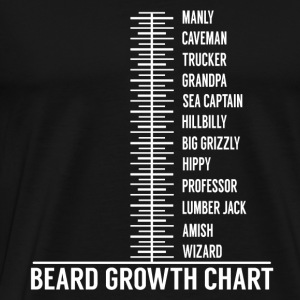 Beard growth scale Long Sleeve Shirts - Men's Premium T-Shirt