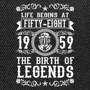 1959 - 58 years - Legends - 2017 Tee shirts - Casquette snapback