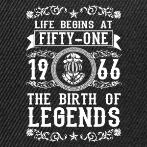 1966 - 51 years - Legends - 2017 T-Shirts - Snapback Cap