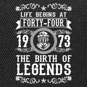 1973 - 44 years - Legends - 2017 Shirts - Snapback cap