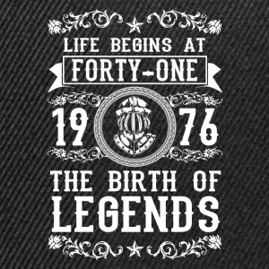 1976 - 41 years - Legends - 2017 Shirts - Snapback cap