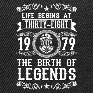 1979 - 38 years - Legends - 2017 T-Shirts - Snapback Cap