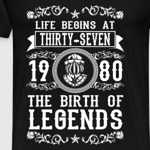 1980 - 37 years - Legends - 2017 Sweaters - Mannen Premium T-shirt