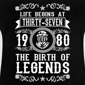 1980 - 37 years - Legends - 2017 Camisetas - Camiseta bebé