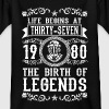 1980 - 37 years - Legends - 2017 Camisetas - Camiseta adolescente