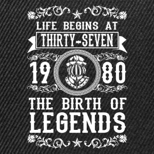 1980 - 37 years - Legends - 2017 T-Shirts - Snapback Cap