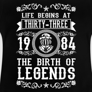 1984 - 33 years - Legends - 2017 Camisetas - Camiseta bebé