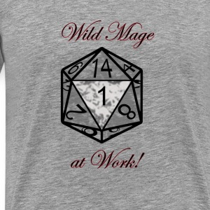 Wild Mage at work Tops - Männer Premium T-Shirt