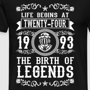 1993 - 24 years - Legends - 2017 Gensere - Premium T-skjorte for menn