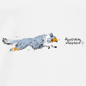Australian Shepherd  Mugs & Drinkware - Men's Premium T-Shirt