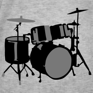 Drums Sweaters - Mannen Vintage T-shirt