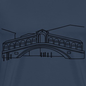 Rialto Bridge Venice Hoodies & Sweatshirts - Men's Premium T-Shirt