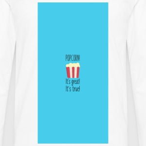Popcorn! its great - Case Custodie per cellulari & Tablet - Maglietta Premium a manica lunga da uomo