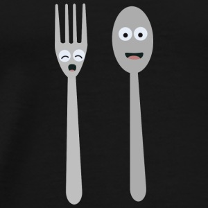 Spoon and fork kawaii Baby Long Sleeve Shirts - Men's Premium T-Shirt