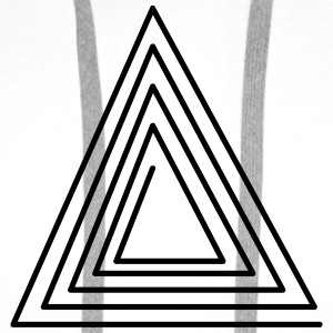 Hipster Triangle T-Shirts - Men's Premium Hoodie