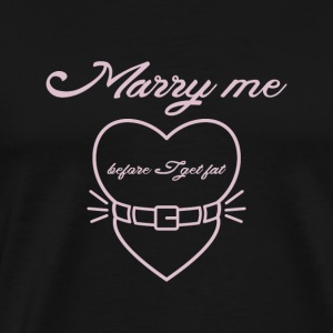 Marry me before I get fat Langærmede t-shirts - Herre premium T-shirt