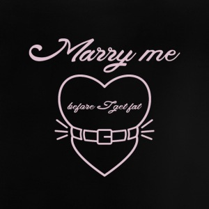 Marry me before I get fat Langærmede shirts - Baby T-shirt