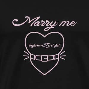 Marry me before I get fat Langarmede T-skjorter - Premium T-skjorte for menn