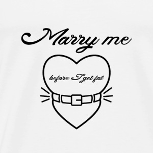 Marry me before I get fat Långärmade T-shirts baby - Premium-T-shirt herr
