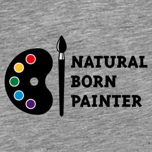 Natural Born Painter (PNG) Caps & Hats - Men's Premium T-Shirt