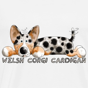 Welsh Corgi Cardigan  Aprons - Men's Premium T-Shirt