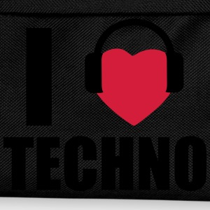 I love techno, Dj, Rave, Clubbing  - Kids' Backpack
