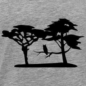 Nature, forest, owl Tops - Men's Premium T-Shirt