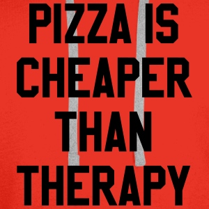 Pizza Is Cheaper Than Therapy T-Shirts - Men's Premium Hoodie