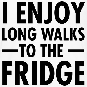 I Enjoy Long Walks To The Fridge T-shirts - Herre premium T-shirt med lange ærmer