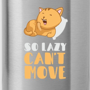 So lazy, can't move me Baby Long Sleeve Shirts - Water Bottle