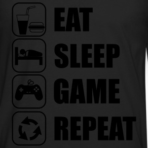 eat sleep game geek - Gaming Nerd T-Shirts - Men's Premium Longsleeve Shirt