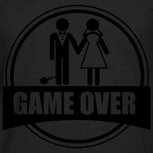 Game over, Funy, couples - Men's Premium Longsleeve Shirt