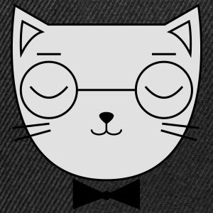 Cute Cat Icon | Hipster | Glasses | Bow Tie T-shirts - Snapback cap