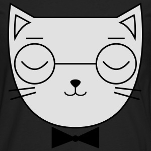 Cute Cat Icon | Hipster | Glasses | Bow Tie T-shirts - Mannen Premium shirt met lange mouwen