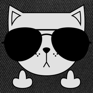 Cute Cat Icon | Sunglasses | Middle Finger T-Shirts - Snapback Cap