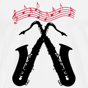 Saxophones / crossed saxophones Caps & Hats - Men's Premium T-Shirt