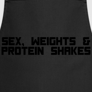 sex weights proteinshakes T-Shirts - Cooking Apron