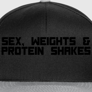 sex weights proteinshakes T-Shirts - Snapback Cap