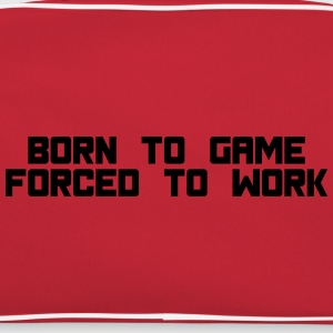 born to game forced to work T-skjorter - Retro veske