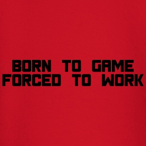 born to game forced to work T-shirts - Langærmet babyshirt