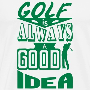 Golf quote always good idea swing spo Manga larga - Camiseta premium hombre