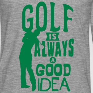 Golf always good idea citation quote Top - Maglietta Premium a manica lunga da uomo
