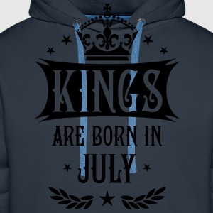 Kings are born in July Krone King Star T-Shirt - Männer Premium Hoodie