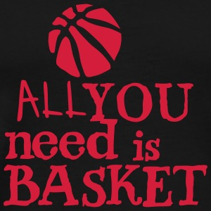 basketball_all_you_need Zitat Ballon Sportbekleidung - Männer Premium T-Shirt