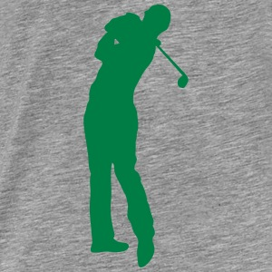 Golf swing player 1502 Hoodies & Sweatshirts - Men's Premium T-Shirt