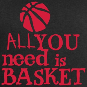 basketball_all_you_need Zitat Ballon Langarmshirts - Männer Sweatshirt von Stanley & Stella