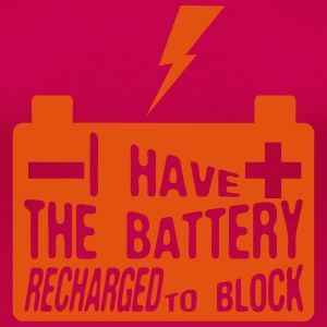 Zitat i_have_battery_recharged_block Langarmshirts - Frauen Premium T-Shirt