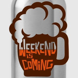 weekend coming biere citation alcool hum Tee shirts - Gourde