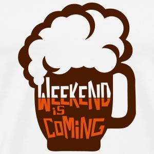 weekend coming biere citation alcool hum Manches longues - T-shirt Premium Homme