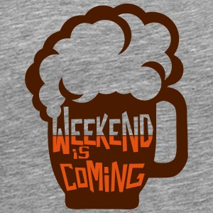 weekend coming biere citation alcool hum Vêtements de sport - T-shirt Premium Homme